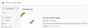 Ancestry DNA Helper in the Chrome Store