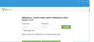 DNAGEdcom Client Login Screen
