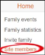 higlighted menu item for site members