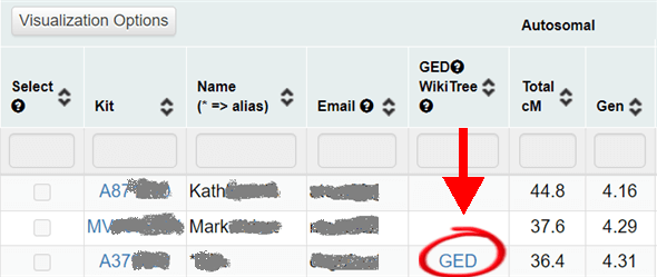 highlighted link to open gedcom