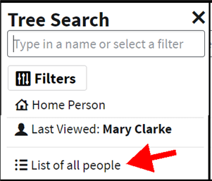 highlighed option to view the list of all people